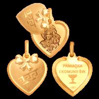 Medalik złoty Pamiątka I komunii św 33816