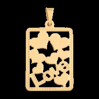 Przywieszka złota serduszk w ramce