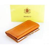 Portfel damski skórzany Marco PD03B  Koniak Jasny