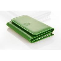 Portfel damski skórzany Marco PD03B  Zielony