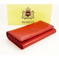 Portfel damski skórzany Marco PD08S Czerwony