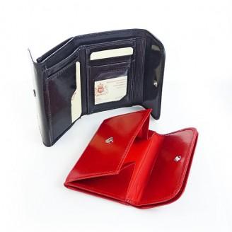 Portfel skórzany Marco PD22S Czerwony