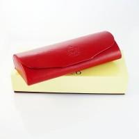 Skórzane etui na okulary Marco E16S Czerwone