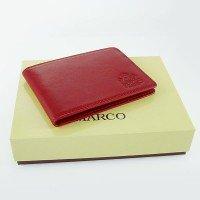 Skórzane etui na wizytówki Marco R03S Czerwone