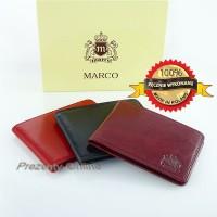 Skórzane etui na wizytówki Marco R03S Bordowe