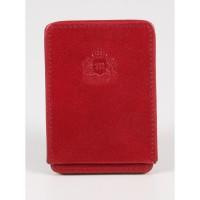 Skórzane etui na wizytówki Marco A13S Czerwone